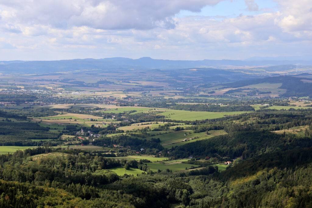 Widok z Kłodzkiej Góry na Szczeliniec