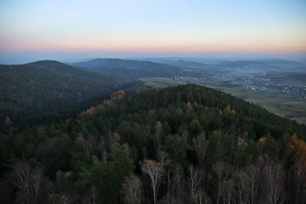 Panorama z wieży Szpilówka