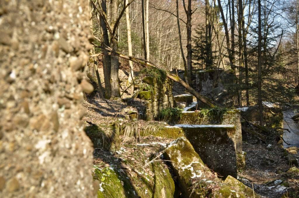 Ruiny tartaku w Foluszu
