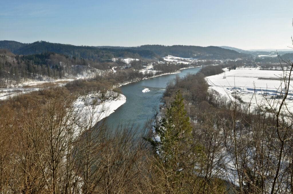 Rzeka San Zamek Sobień Podkarpackie