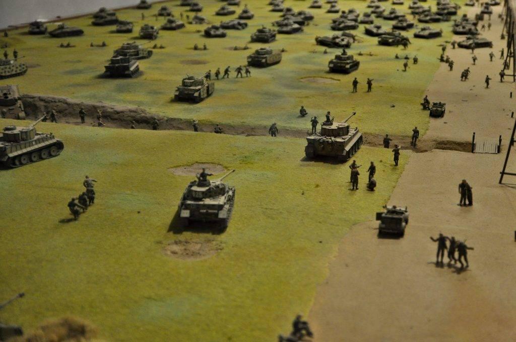 makieta pola bitwy pod Stalingradem